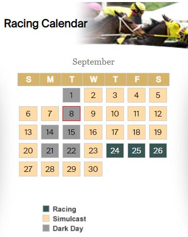 September Racing Schedule